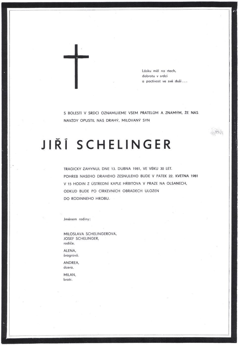 Parte Jiřího Schelingera